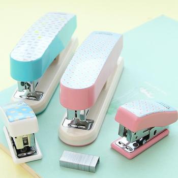 Grapadora Manual geométrica, Set de 10 grapas, Mini Grapadora Papelaria, accesorios de...