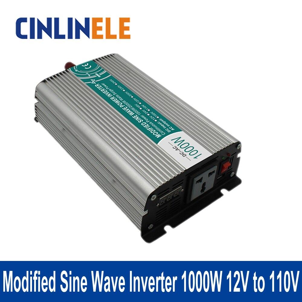 Modified Sine Wave Inverter 1000W CLM1000A-121 DC 12V to AC 110V 1000W Surge Power 2000W  цены