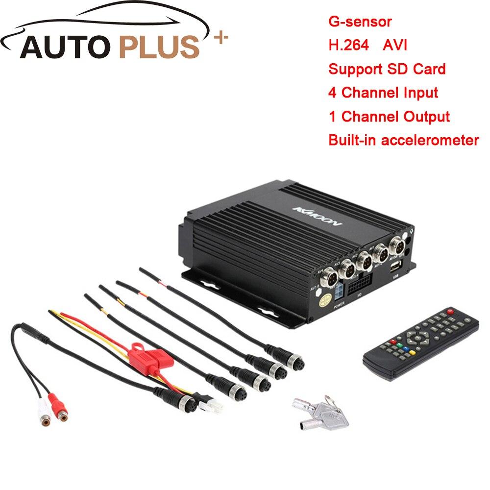 KKmoon DVR 4CH MINI Realtime Car Mobile DVR Auto Video Recorder Vehicle Camcorder Car Camera Driving