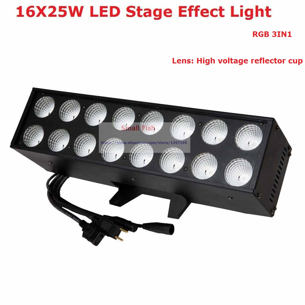 1 Stk / parti 16X25W Led-sceneffektbelysning Hi-Power 110W LED Strobe Light för fest Bröllop DJ-fest Club Bar Lighting