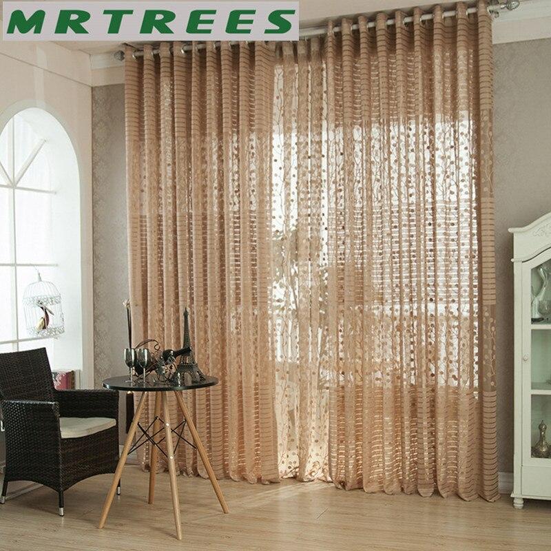 Europe style gris tulle sheer fenêtre rideaux pour le salon la ...