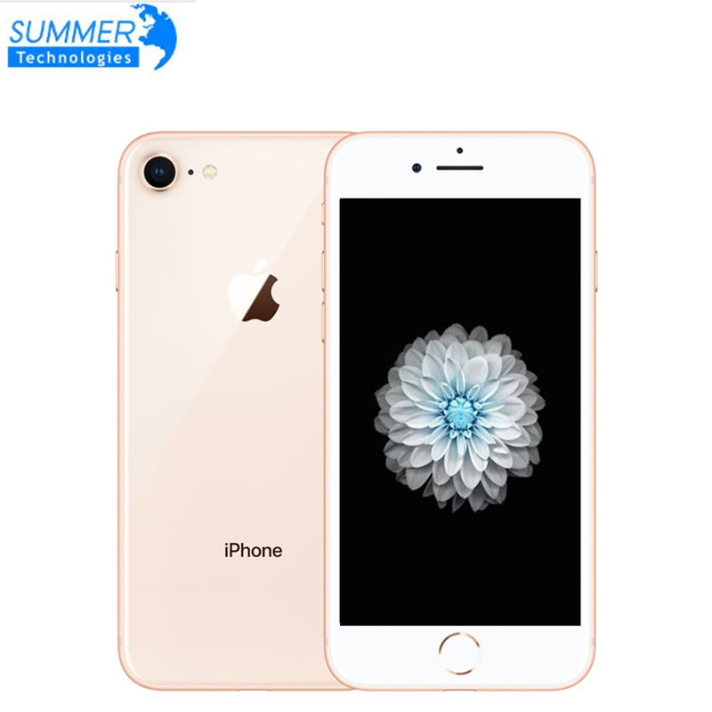 "Used Smartphone Original Unlocked Apple iPhone 8 LTE Fingerprint Mobile Phone  4.7"" 12.0MP Hexa Core 2GB RAM iOS(China)"