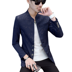 Image 2 - Chinese Style Mens Slim Fit Blazer Men Design Plus Size Tunic Man Casual Male Slim Fit Suit Jacket Singer Costume 6XL 5XL