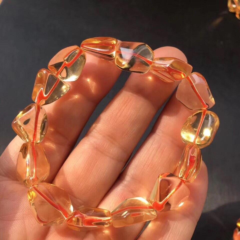 Natural Citrine Quartz Bracelet (6)
