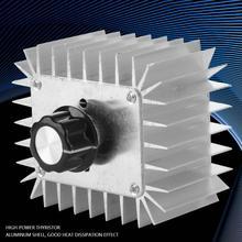 AC 220V 5000W Thyristor Motor Speed Control Adjustable Power Controller Regulator for Temperature Power Controller 10000w high power thyristor electronic regulator motor fan variable speed governor thermostat 220v
