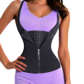 Women Waist Trainer Strap Corset With Zipper 3 Hook Tummy Control Vest Full Body Shaper Waist Cincher Slimming Trimmer Shapewear