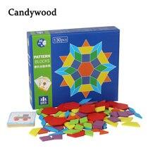 Шт. 130 шт. деревянные головоломки игры Монтессори развивающие игрушечные лошадки для головоломка для детей обучения Дерево развивающие