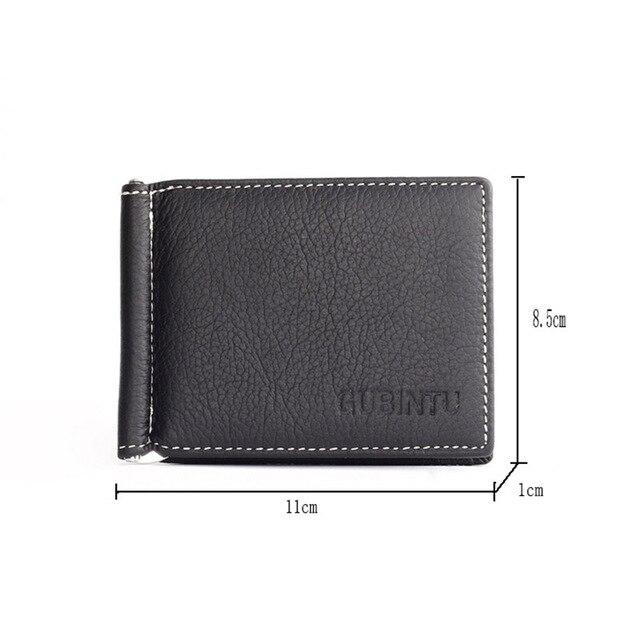 Genuine Leather money clip Holder Brand fashion Mini Men zipper coin Pocket Multi-card bit portfolio wallet Slim Credit Card Bag