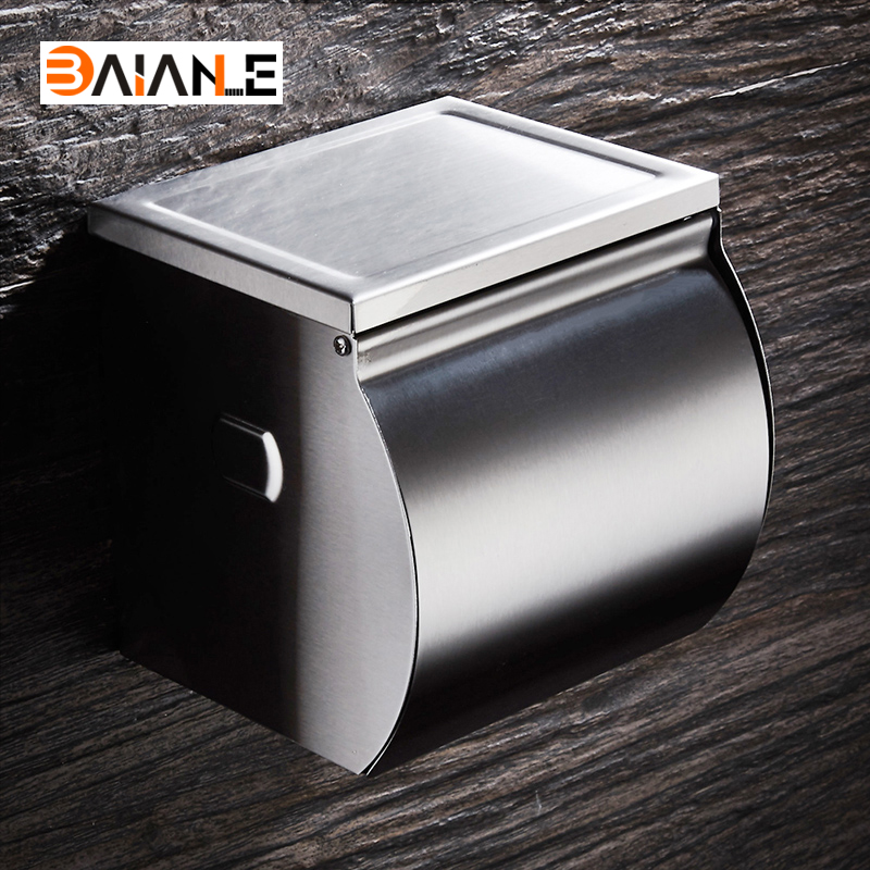 Stainless steel Bathroom Paper Towel Waterproof Wall Mounted Paper Holder Bathroom Toilet Paper HolderStainless steel Bathroom Paper Towel Waterproof Wall Mounted Paper Holder Bathroom Toilet Paper Holder