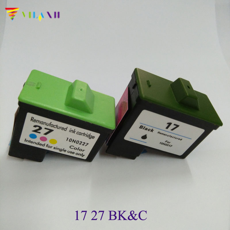Ink Cartridge for Lexmark 17 27 for lexmark X1270 i3 X1100 X1150 X2250 X75 Z13 Z23 Z34 Z515 Z517 printer