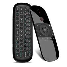 Новинка; Лидер продаж W1 Fly Air Мышь Беспроводной клавиатура 2,4G Rechargeble Чувство движения Mini Remote Управление для Smart Android ТВ коробка