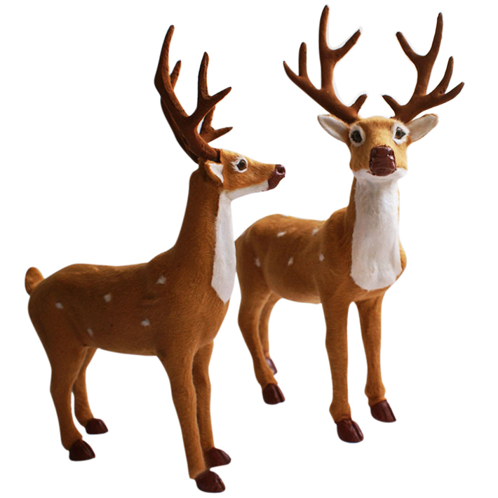christmas artificial reindeer decoration new year santa claus indoor outdoor decorations ornament enfeites de natal shb243 - Christmas Reindeer Decorations