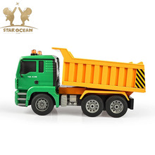 RC Engineering Truck Toys for Children Boys Xmas Birthday Green Color RC Car Dump Truck Model Beach Toys Transporter alloy bearing extractor tool d2 d14 for rc model car truck