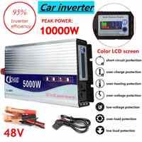Inversor 12 V/24 V/48 V 220V 5000W 10000W transformador de potencia de onda sinusoidal modificada pico convertidor + pantalla LCD
