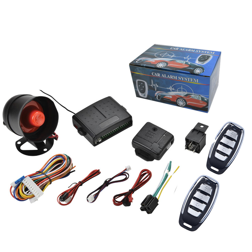 Aliexpress com buy 12v car alarm system one way vehicle burglar alarm security protection system with 2 remote control auto burglar from reliable system