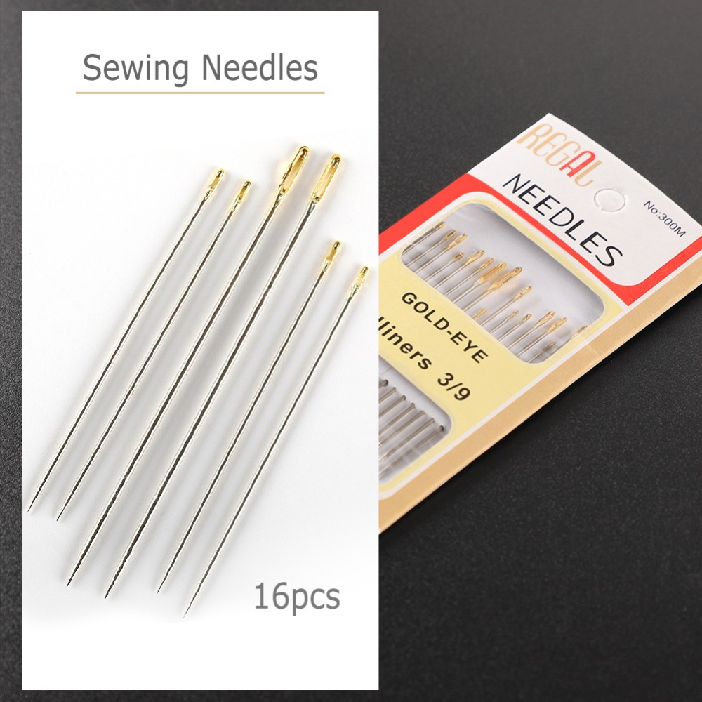 NEW 20 HOUSEHOLD HAND SEWING NEEDLES ASSORTED SIZES 3//9 EMBROIDERY WOOL NEEDLE