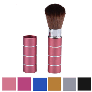 1PC Pro Retractable Dome Blush Brush Aluminum Eyeshadow Foundation Facial Brushes Makeup Cosmetic Tools 1