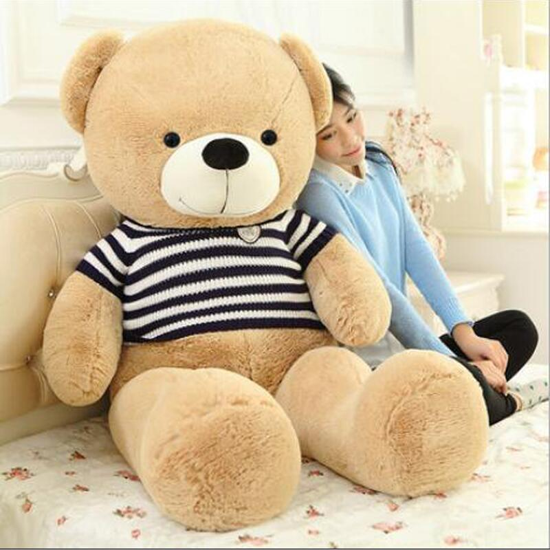 Big Size Animal Teddy Bear Plush Toy Stuffed Soft Cartoon Bear For Children Birthday Gift 1 piece light brown high quality low price stuffed plush toys large size100cm teddy bear 1m big bear doll lovers birthday gift