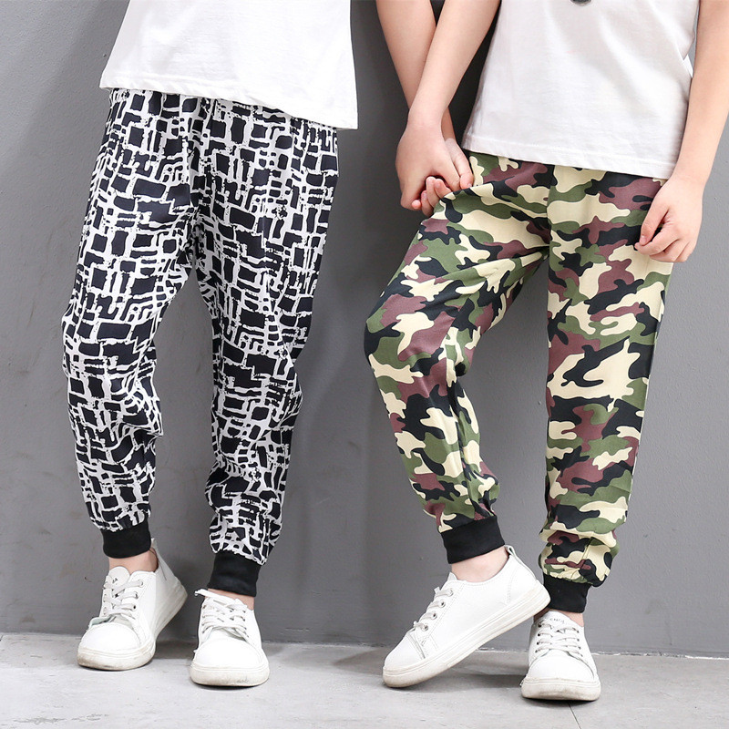 2019 Summer Kids Harem Pants For Boys Beach Wear Floral Print Trousers Girls Dance Clothing Pants For Girls Bohemian Bloomers(China)