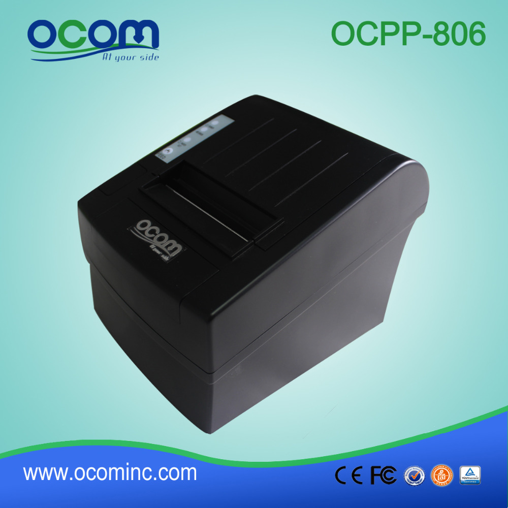 80mm Thermal Receipt Printer With Serial+USB+Ethernet Port Together (OCPP-806)