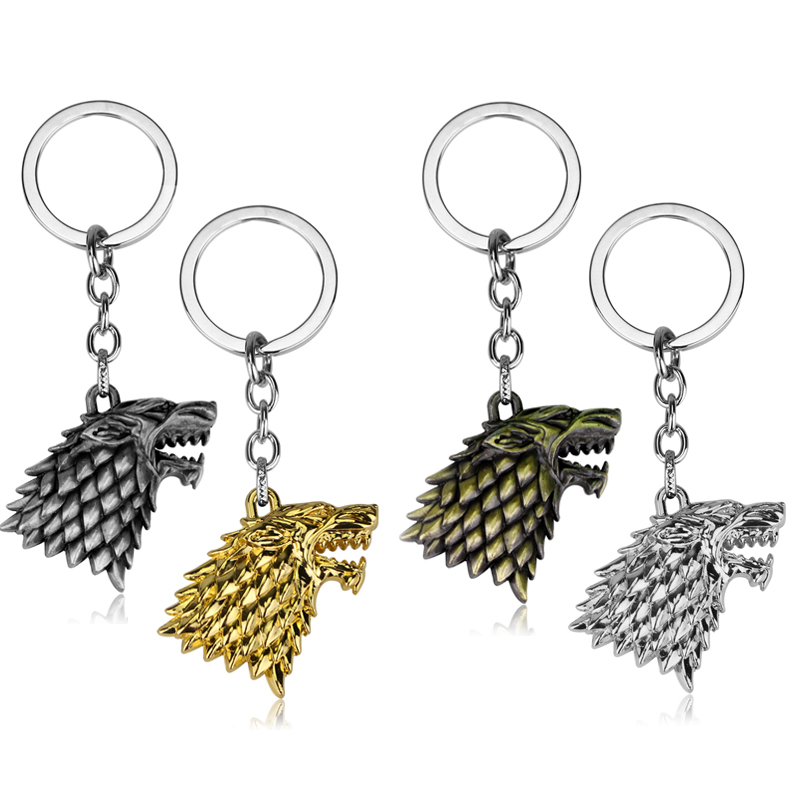Hot Sale Game of Thrones Keychain 3Color Winter Is Coming Wolf Keychain недорго, оригинальная цена