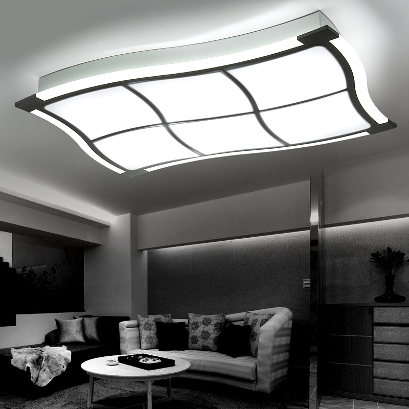 Light Filled Contemporary Living Rooms: Brief Living Room Ceiling Lamps Luminarias De Led Ceiling