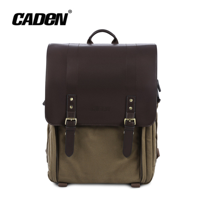 CADEN P1 P3 P5 DSLR Camera Backpack Water-resistant Canvas Shoulder  Messenger Bag Three Size Leather Shockproof Camera Handbag