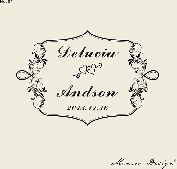 Custom Logo Stamp 236 X157 Wedding Border