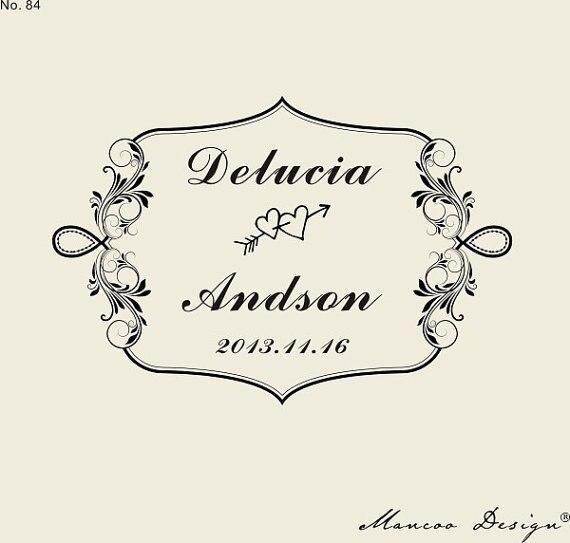 Custom Logo Stamp 236 X157 Wedding Border
