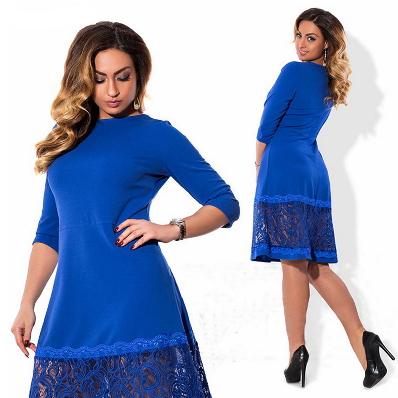 high quality women fashion 2017 new autumn dress 5xl 6xl large size vintage  retro dress For Fat robe femme lady bodycon clothes -in Dresses from Women s  ... 2a5257644f59