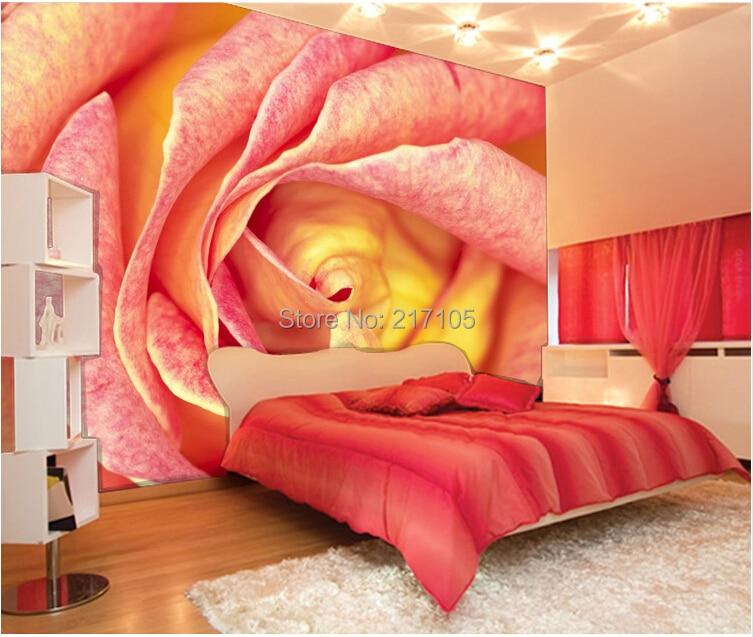 ღ ღpersonnalise 3d Stereoscopique Papier Peint Romantique Roses