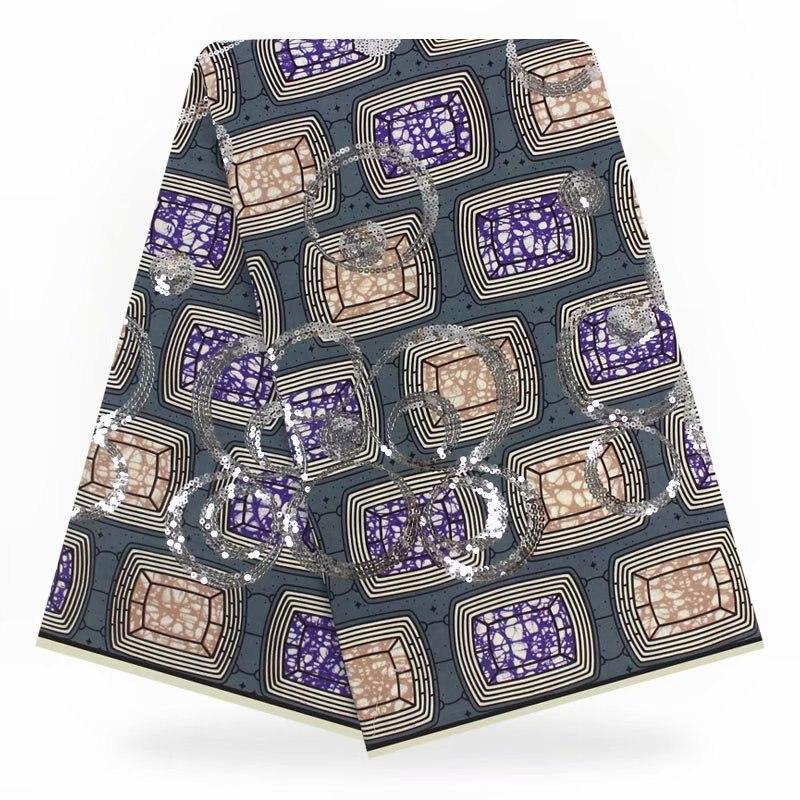Cire africaine imprime tissu paillettes cire coton cire tissu africain imprimé tissu nigérian africain Ankara tissu