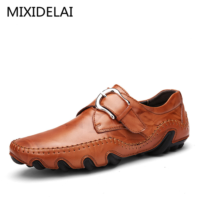 New Roman Men Leather Shoes Casual Men Loafers Flats Shoes Slip On Moccasins Men's Loafers Genuine Leather Male Shoes dxkzmcm new men flats cow genuine leather slip on casual shoes men loafers moccasins sapatos men oxfords