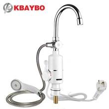 KBAYBO Электрический кухонный водонагреватель кран мгновенная горячая вода кран нагреватель холодный нагревательный кран Tankless мгновенный водонагреватель