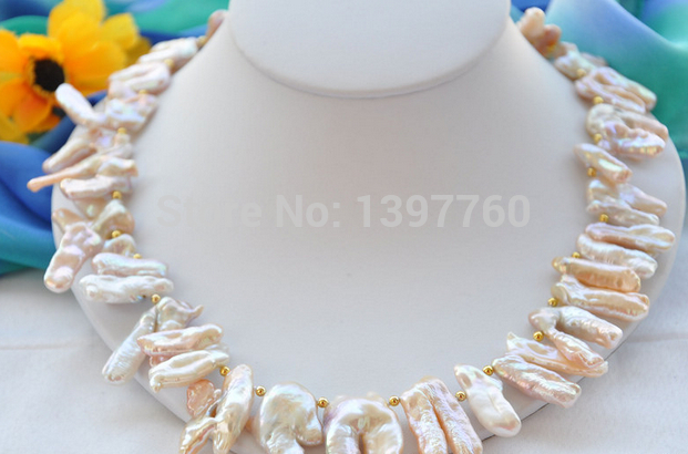 Mlle charme Jew.259 ailes d'ange rose REBORN collier de perles ( A0511 )