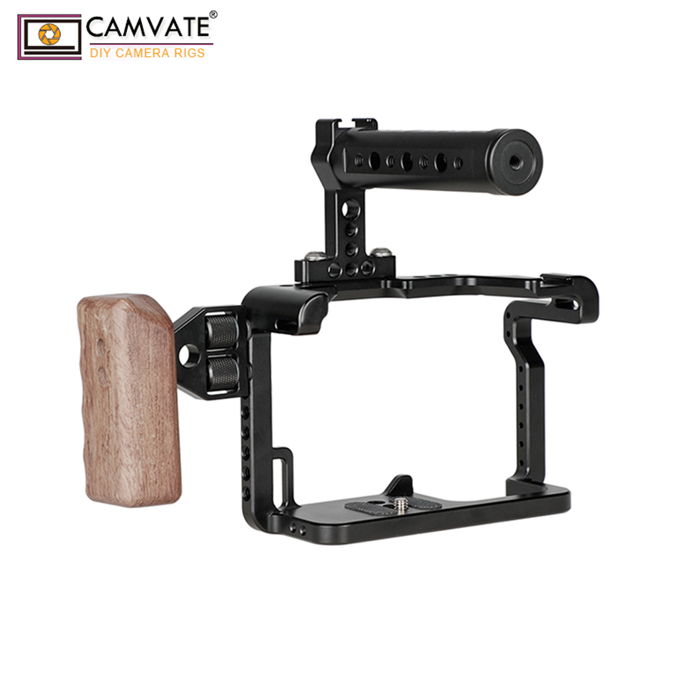 Image 5 - CAMVATE GH5 Full Cage Kit With Handles And Shoe Mountsp C1909-in Photo Studio Accessories from Consumer Electronics