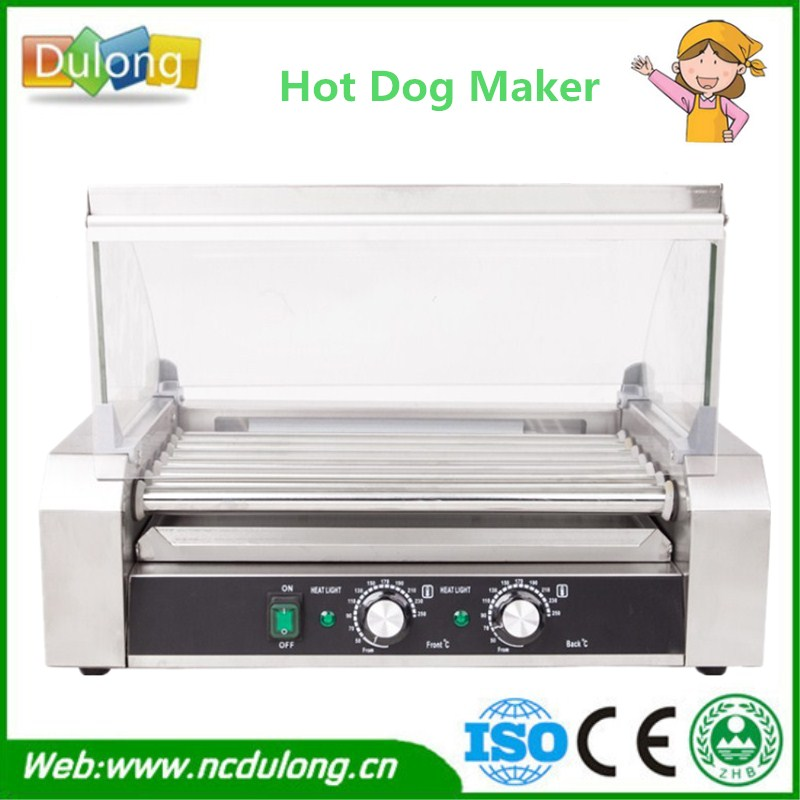 Hot Dogs Grill 11-roller Electric Stainless Steel Hot Dog Maker Commercial Hot-dog Sausage Grill Roasting Machine hot dog grill machine roast sausage grill maker stainless steel hotdog maker cooker with 5 rollers