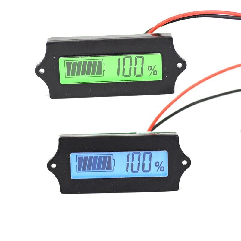 LCD Lithium fer Phosphate batterie LiFePO4 plomb acide batterie au Lithium indicateur de capacité voltmètre numérique testeur 12 V