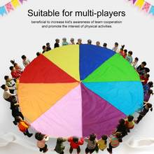 New 2M 3M 3.6M 6M Kids Play Multi-Color Rainbow Parachute Oxford Fabric Outdoor Game toy kids Exercise Development Kindergarten(China)
