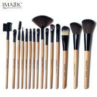 IMAGIC 15pcs Makeup Brush Set High Quality Soft Synthetic Hair Professional Makeup Artist Brush Tool Kit
