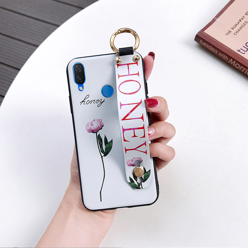 AXBETY sFor honor 8x/honor 10/9 lite /enjoy 8 plus Fashion Flower Lanyard Floop Stand Phone Case For huawei nova 3i sof cover
