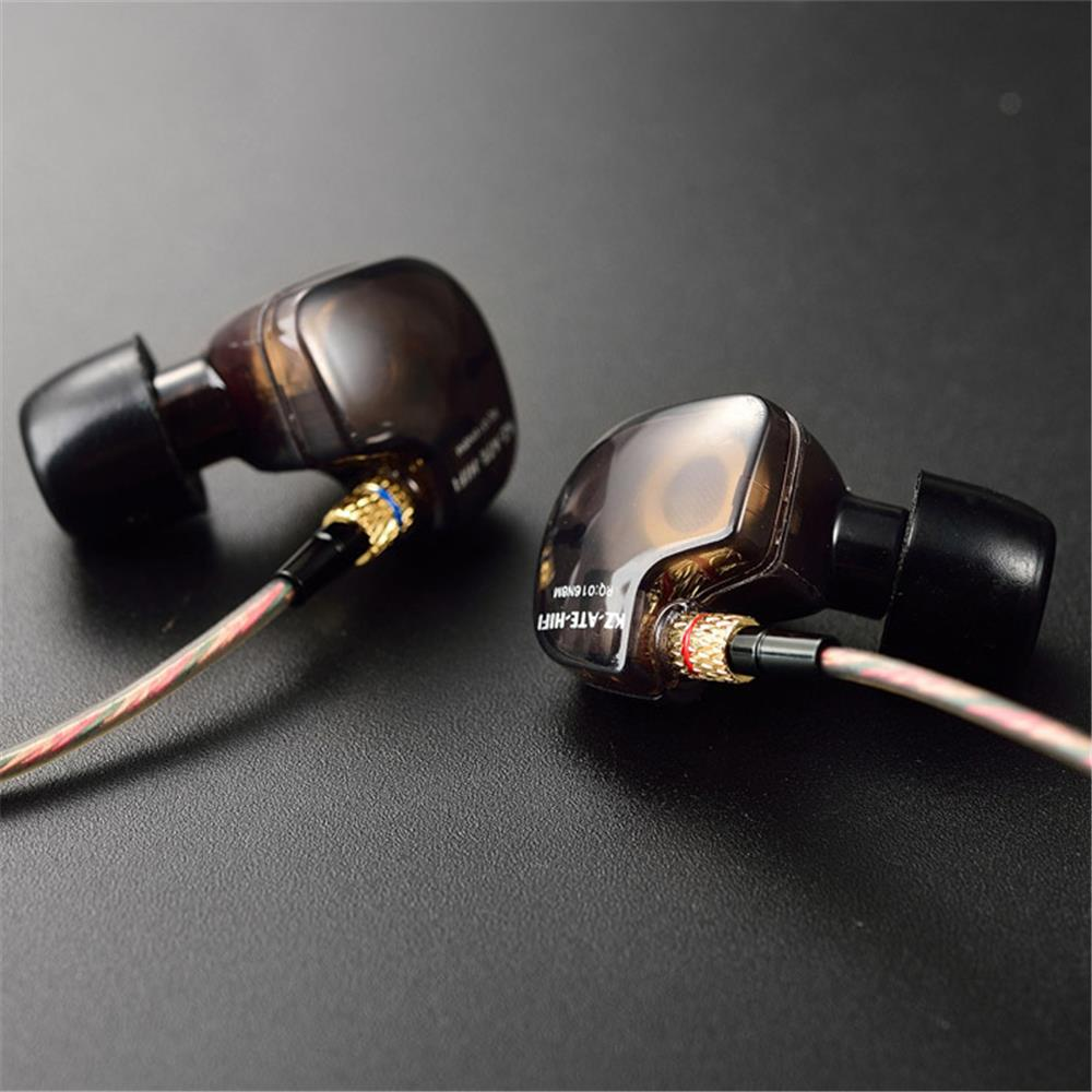 KZ ATE In-Ear Earphones HIFI Metal Stereo Earbuds Super DJ Bass Noise Isolating Headset 8.2mm Drive Unit Earbuds glaupsus gj01 in ear 3 5mm super bass microphone earphones earplug stereo metal hifi in ear earbuds for iphone mobile phone