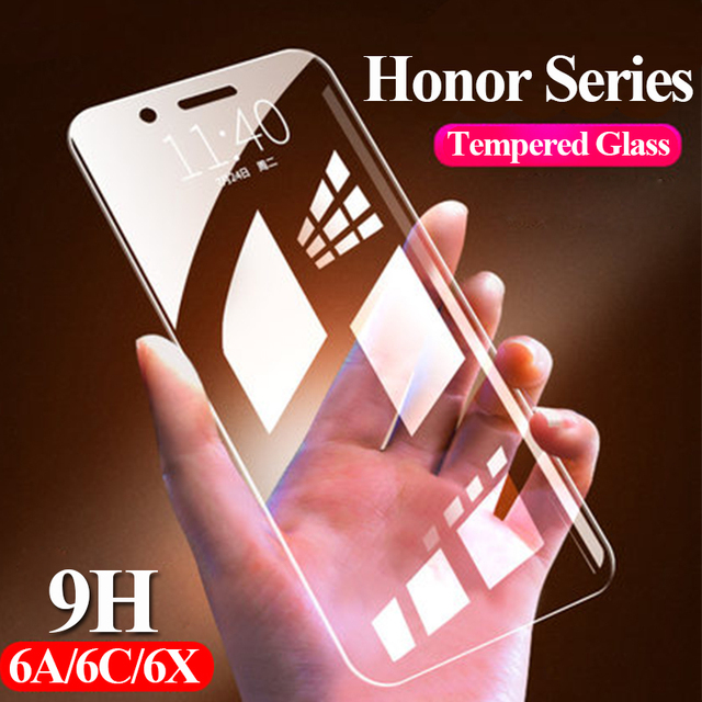 Honor 6a 6c 6x glass protective for huawei p20 lite pro hawei huawey on honer hono 8 9 10 light 9i a6 x6 p 20 safety protector