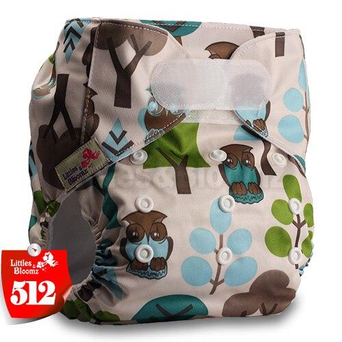 [Littles&Bloomz] Один размер многоразовые тканевые подгузники Моющиеся Водонепроницаемые Детские карманные подгузники стандартная застежка на липучке - Цвет: 512