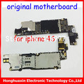 10pcs/lot original motherboard for iphone 4s unlocked mainboard with chips Smart phone Motherboard 16GB logic board IOS system