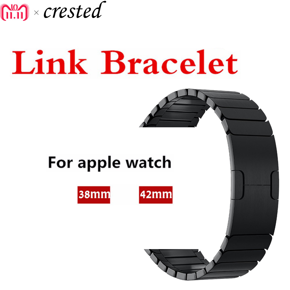 316L из нержавеющей стали часы ремешок для Apple watch 3/2/1 42 мм/38 мм ссылка браслет съемная металлическая Пряжка ремешок для iwatch ремень