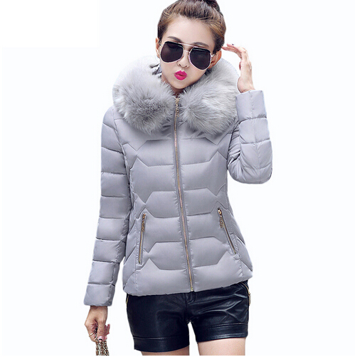 Womens Winter Jackets And Coats 2016 Women s Parkas Thick Warm Faux Fur Collar Hooded Anorak