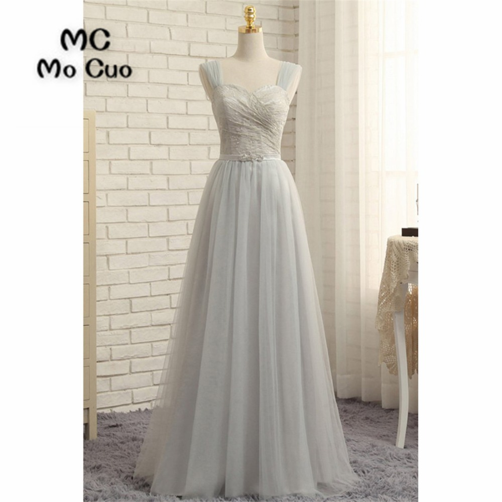 2018 New   Evening     Dresses   Long with Lace Tank Tulle Zipper Back Formal   Evening   Party   Dress   for Women 100% Real Sample