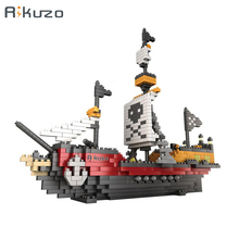 Rikuzo Bateau Pirate Modèle Building Block Set 780 pcs-Nano Micro Blocs Mini legoing lepinING BRICOLAGE Jouets Cadeau