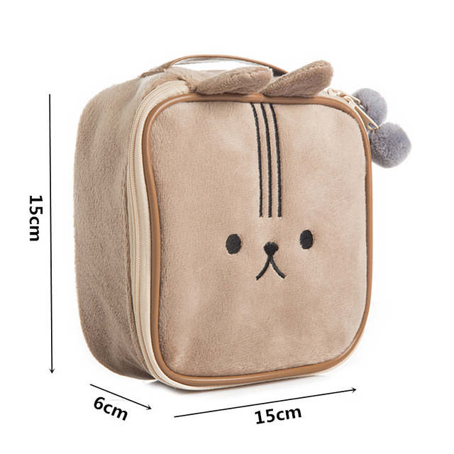 2335c9224 Mihawk Cute Bear Travel Cosmetic Bag Cartoon Rabbit Girl's Mini Pouch Wash  Makeup Tools Organizer Case Box Accessories Supplies-in Cosmetic Bags &  Cases ...